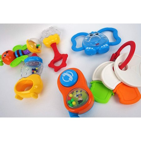 Rattle Noise Maker (NBD Yaya-Shake Rattle Set, When Your 3 Months Old Your Baby Begins to Hand and Touch As Well As Making Noises. These Bright Colorful Rattles)