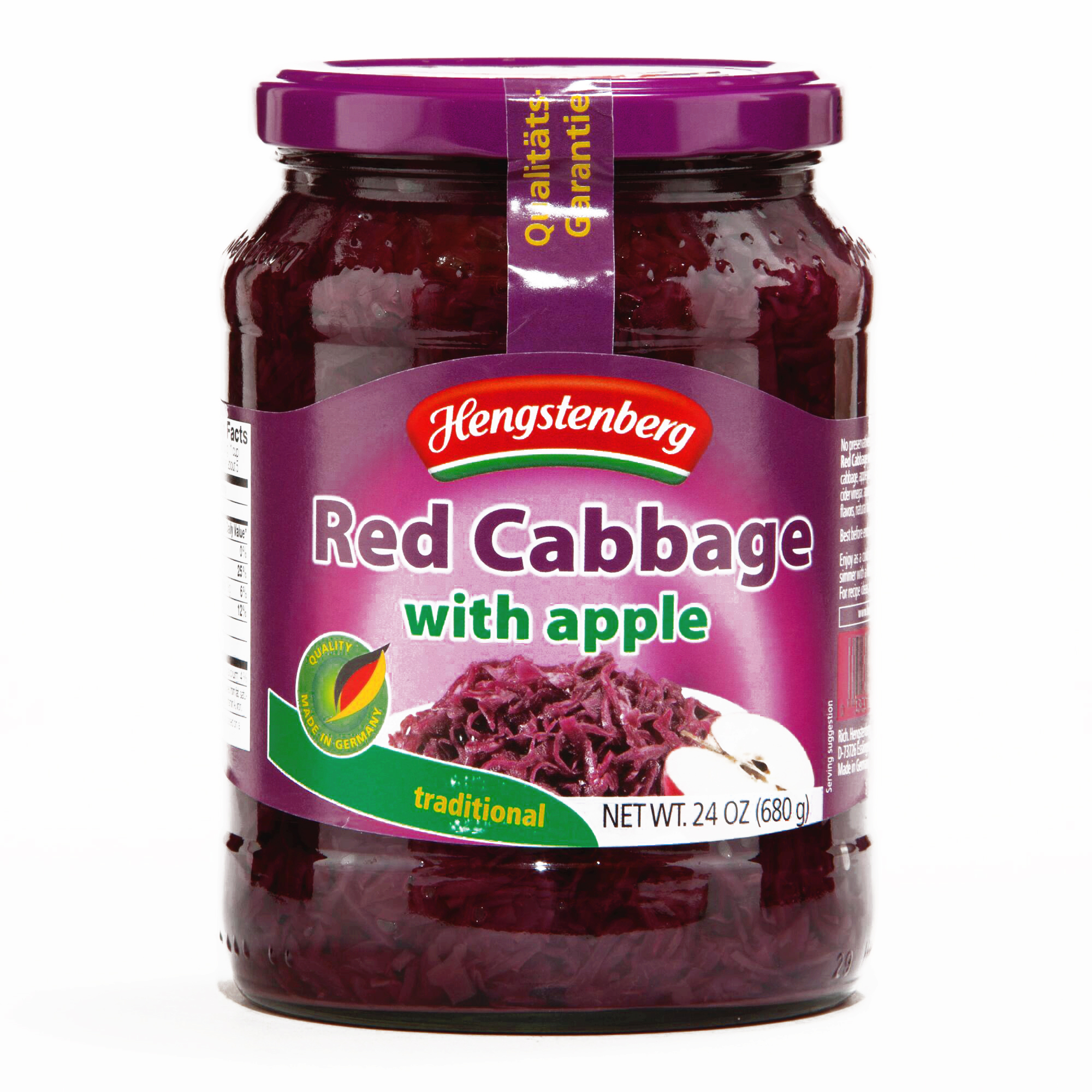 Hengstenberg Red Cabbage with Apples 24 oz each (6 Items Per Order, not per case)