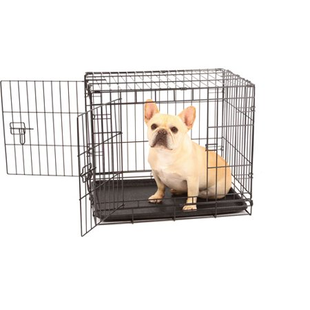Carlson compact and secure double door metal dog crate for Dog kennel clearance