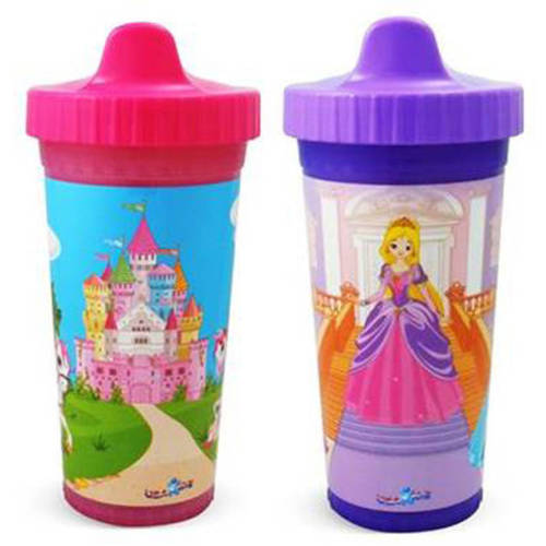 USA Kids Princess Ball Insulated Sippy Cups, BPA-Free, 2-Pack