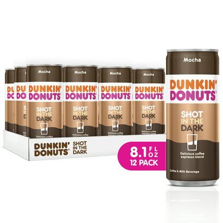 Dunkin' Donuts Shot in the Dark Iced Coffee, Mocha, 8.1 Fl Oz, 12