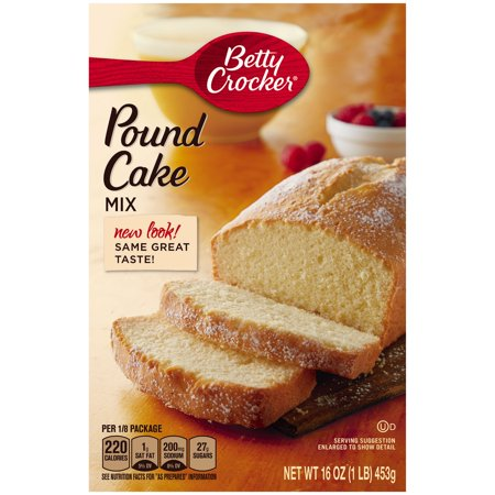 2 16 Betty Crocker Cake Mix Pound