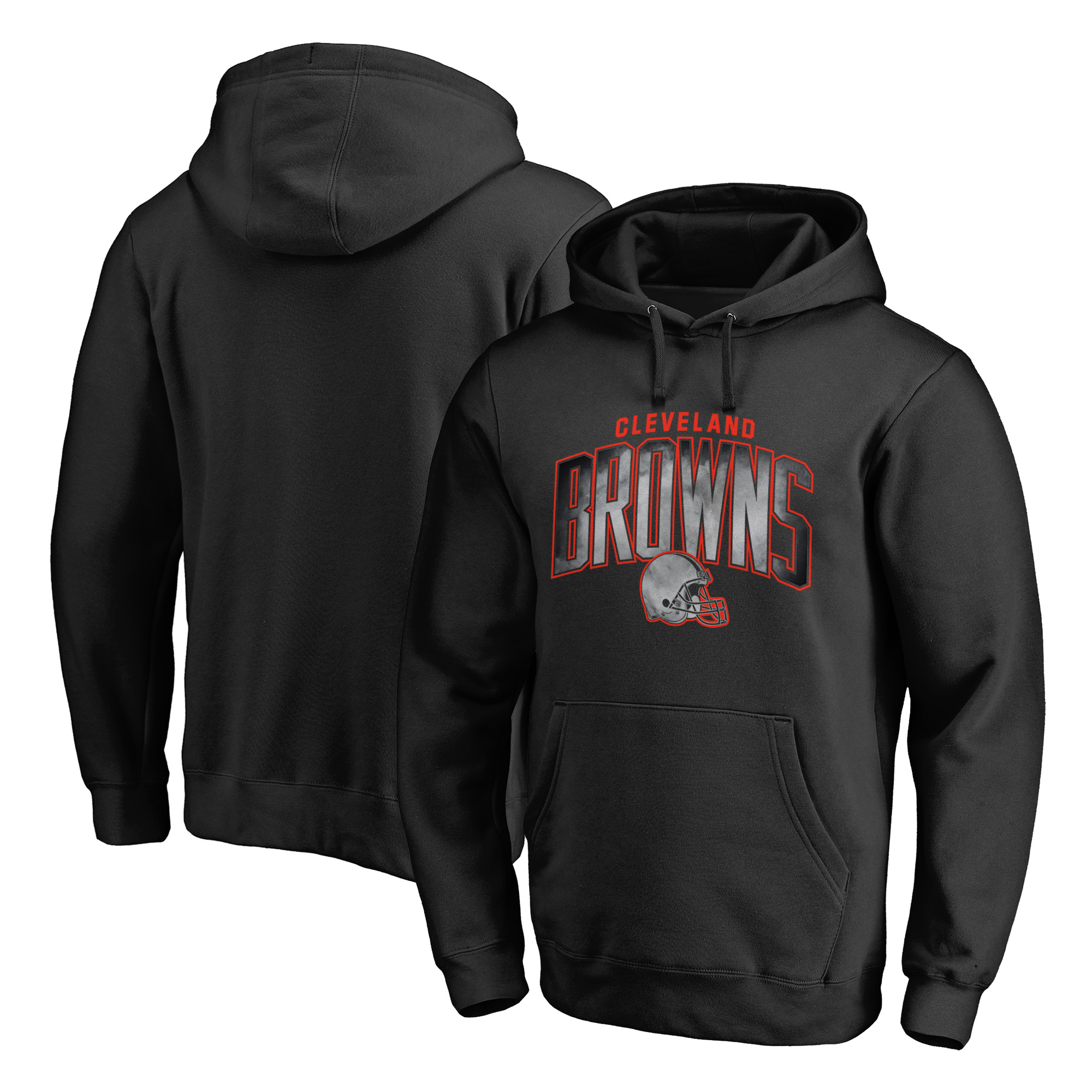 Cleveland Browns NFL Pro Line by Fanatics Branded Big & Tall Arch Smoke Pullover Hoodie - Black - 4XB