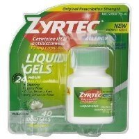 Zyrtec Indoor & Outdoor Allergy Relief, 40-Count Liquid