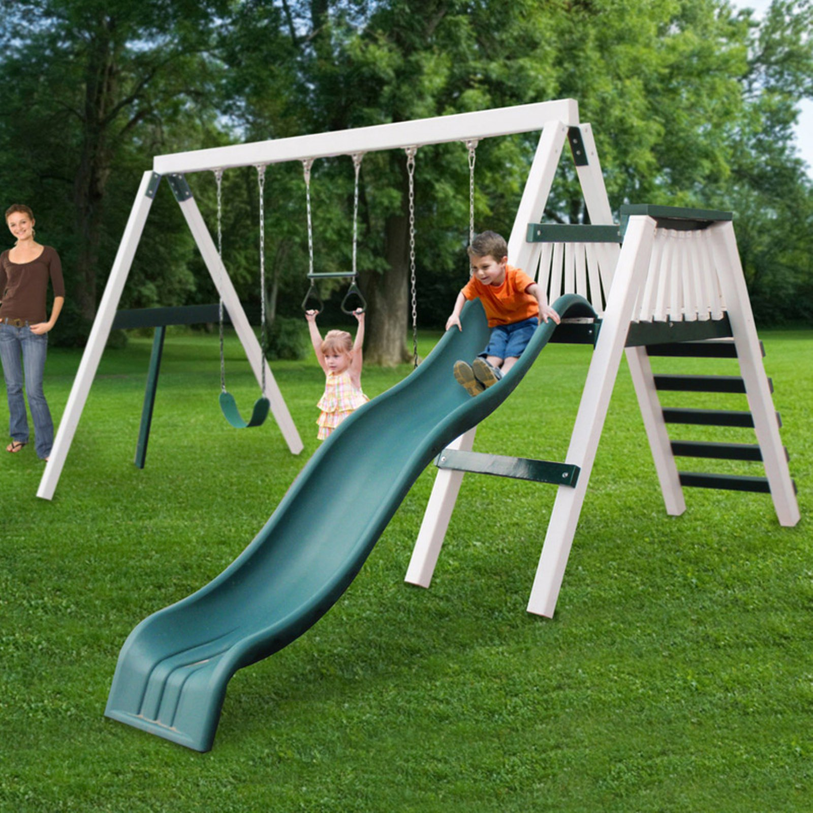 Congo Swing N Monkey 3 Station Play Set - White and Green