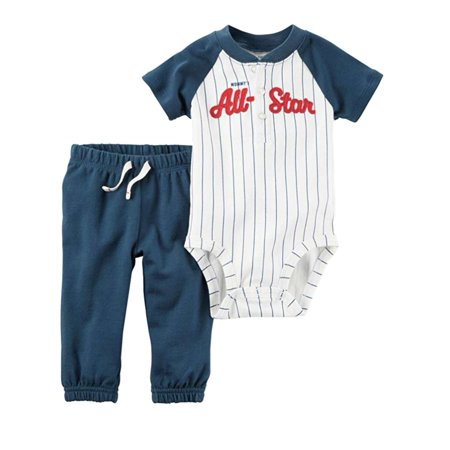 8bd0bde7c Carters Infant Boys All Star Baseball Baby Outfit Bodysuit & Jogger Pants  Outfit - Walmart.com