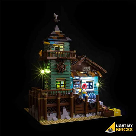 LIGHTING KIT FOR Old-Fishing Store 21310 ( BUILDING SET NOT INCLUDED) by Light my (Brick Three Light)