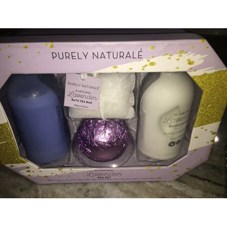 purely naturale lavender spa set