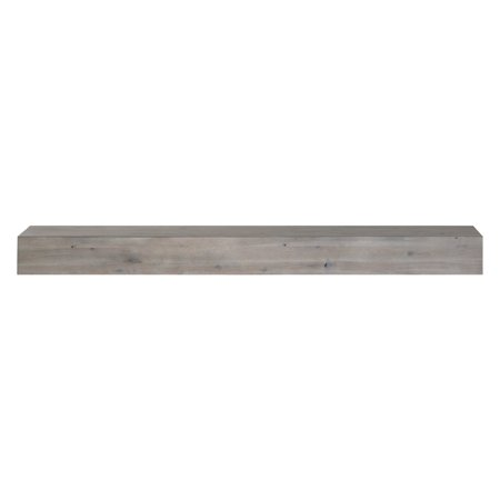 Pearl Mantels Acacia 60 in. Distressed Fireplace Mantel Shelf - Rustic Wood Mantel