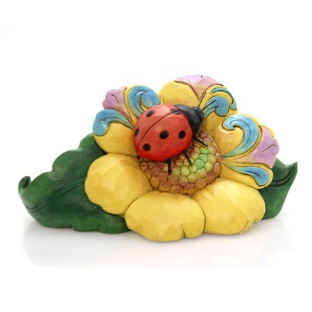 Jim Shore LADYBUG ON FLOWER MINI Polyresin Heartwood Creek 6000677 - Jim Shore Halloween Cats