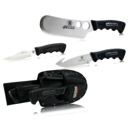 Smith & Wesson Knife Set,Cleaver,Gut Hook,Caping,3 Pc SMITH & WESSON SWCAMP