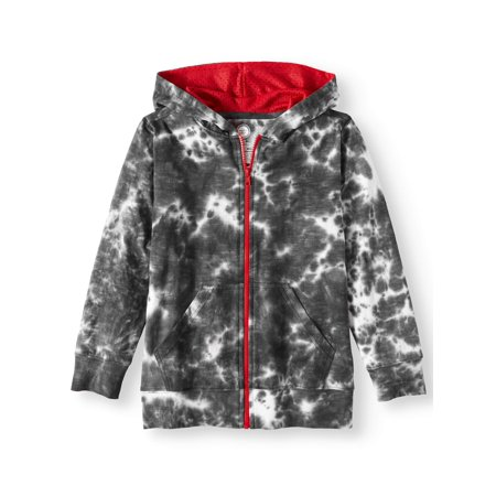 - Tie Dye Full Zip Hoodie with Kangaroo Pockets (Little Boys, Big Boys, & Husky)