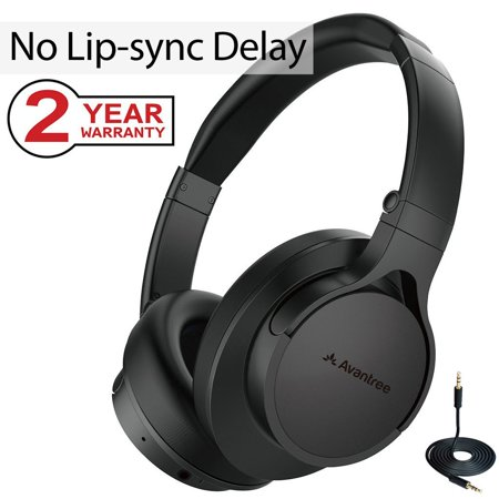 1ac74b369a6 Avantree Super Comfortable Bluetooth Headphones Over Ear with Mic for TV PC  Computer, No Audio