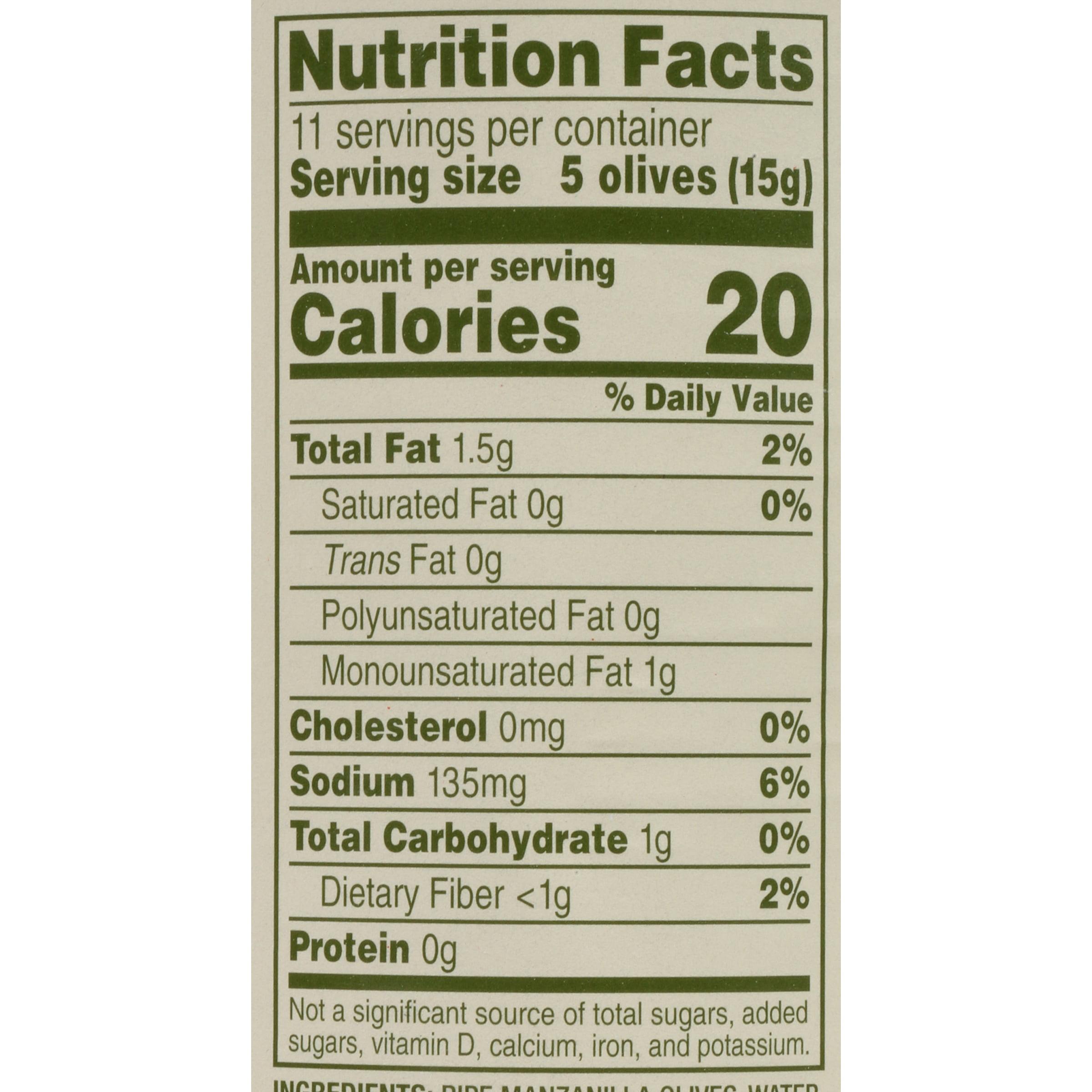 Black Olives Nutrition Facts Nutritionwalls