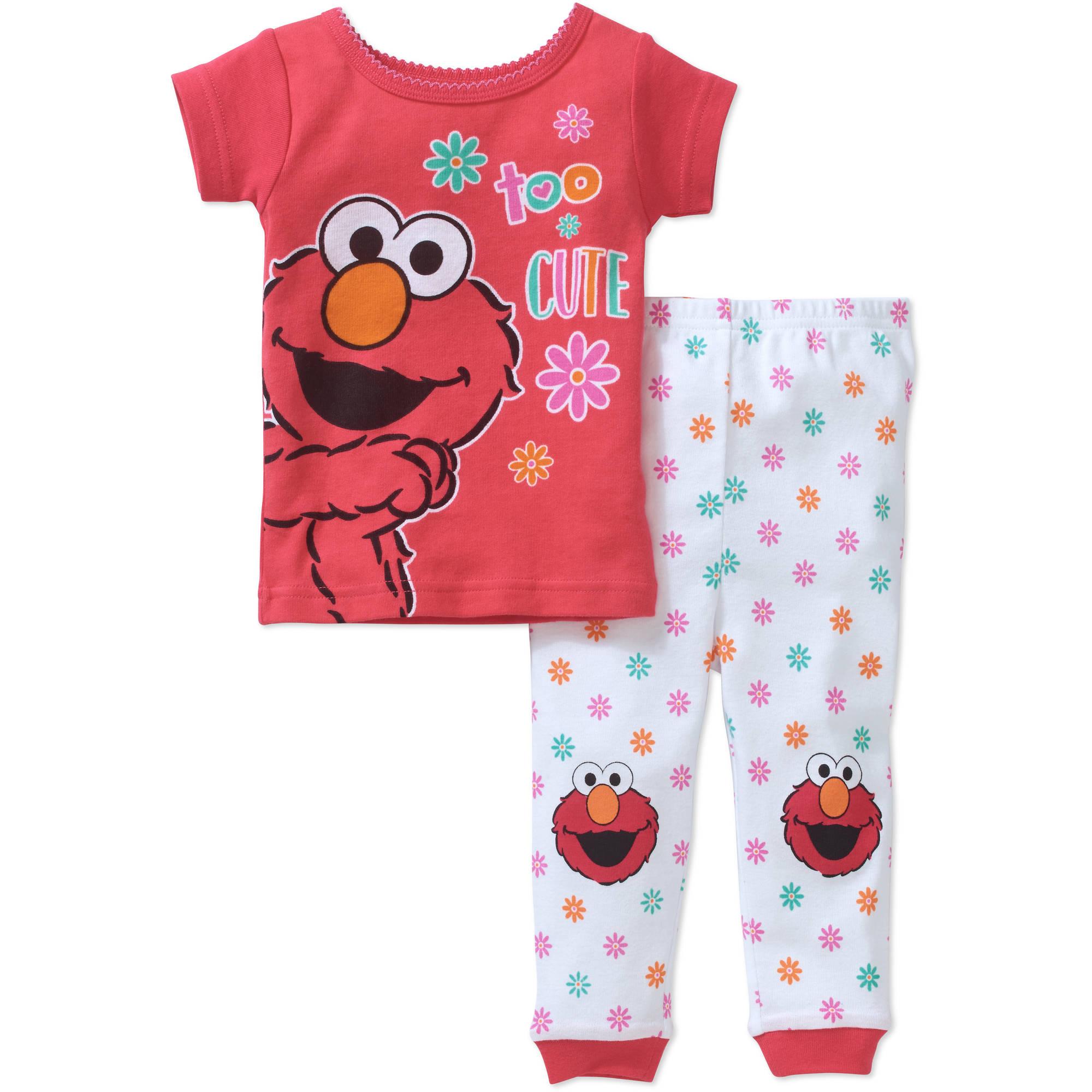 Sesame Street Newborn Baby Girl Elmo Cotton Tight Fit