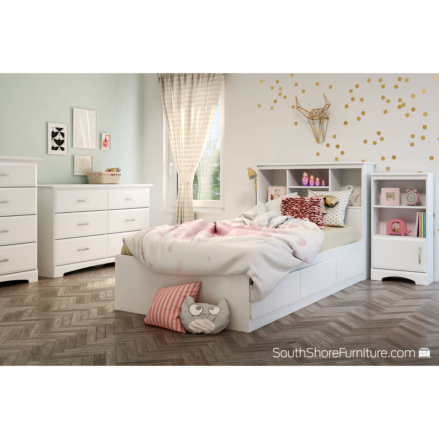 South Shore Callesto 6-Drawer Double Dresser, White by South Shore