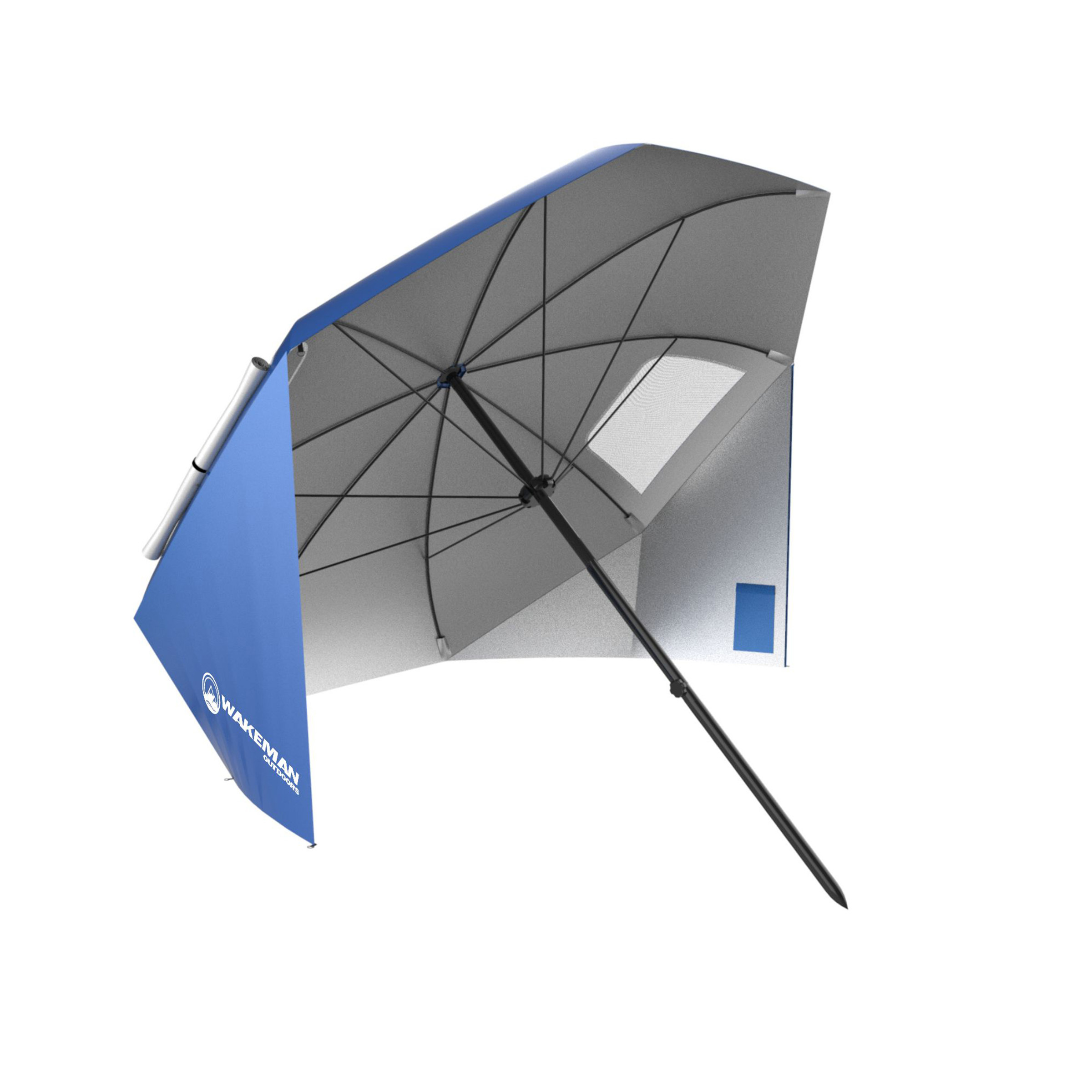 Wakeman M470033 Portable Umbrella Sun Shelter With Uv Protection Water Resistant 44 Blue