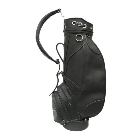 Piel Leather Deluxe 9 in. Golf Bag - Black