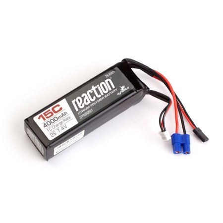 Dynamite Reaction 7.4V 4000mAh 15C 2S LiPo Receiver Pack: DBXL, (15c Li Poly Pack)