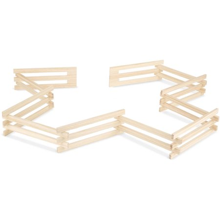Melissa Doug Wooden Horse Corral Fence 11 Folding Sections 35 Inches High 9 Feet Long