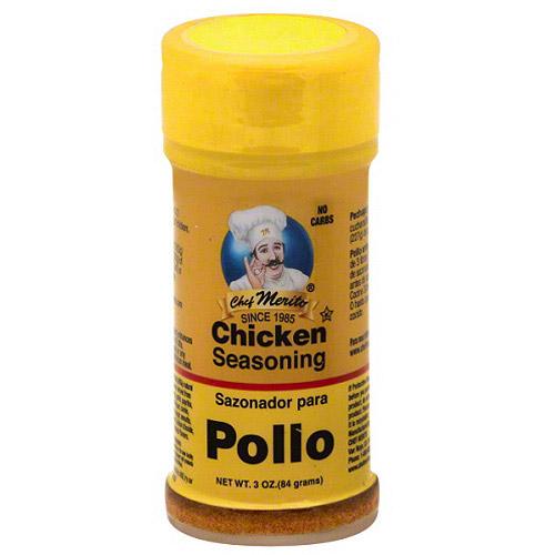 Chef Merito Chicken Seasoning, 3 oz, (Pack of 6)
