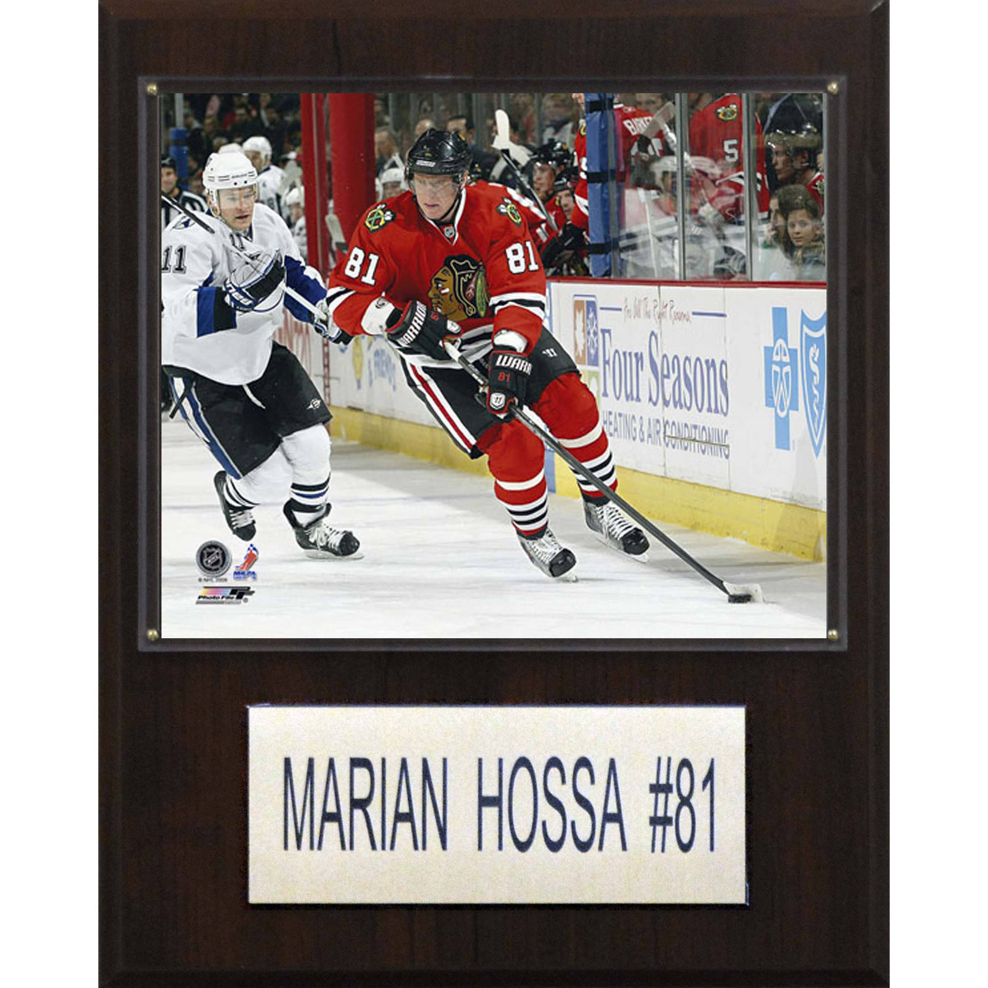 C&I Collectables NHL 12x15 Marian Hossa Chicago Blackhawks Player Plaque