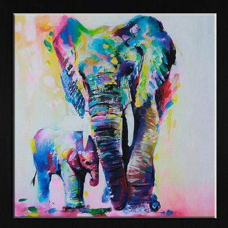 Fancyleo 5D Diamond Painting Elephant DIY Rhinestone Cross Stitch Embroidery Arts Craft Supplies for Home Wall Decor