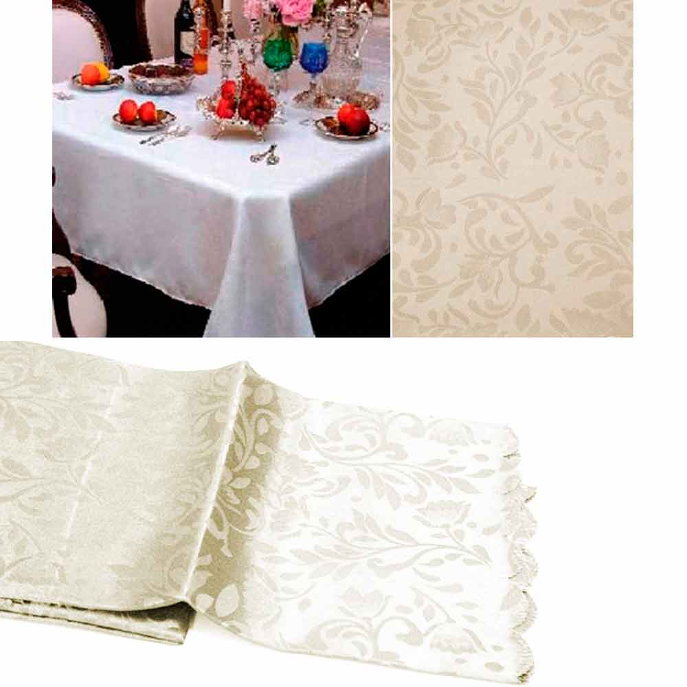 "New Damask Table Cloth 60"" X 90"" Rectangle Cover Floral Home Linens 4Colors Save"