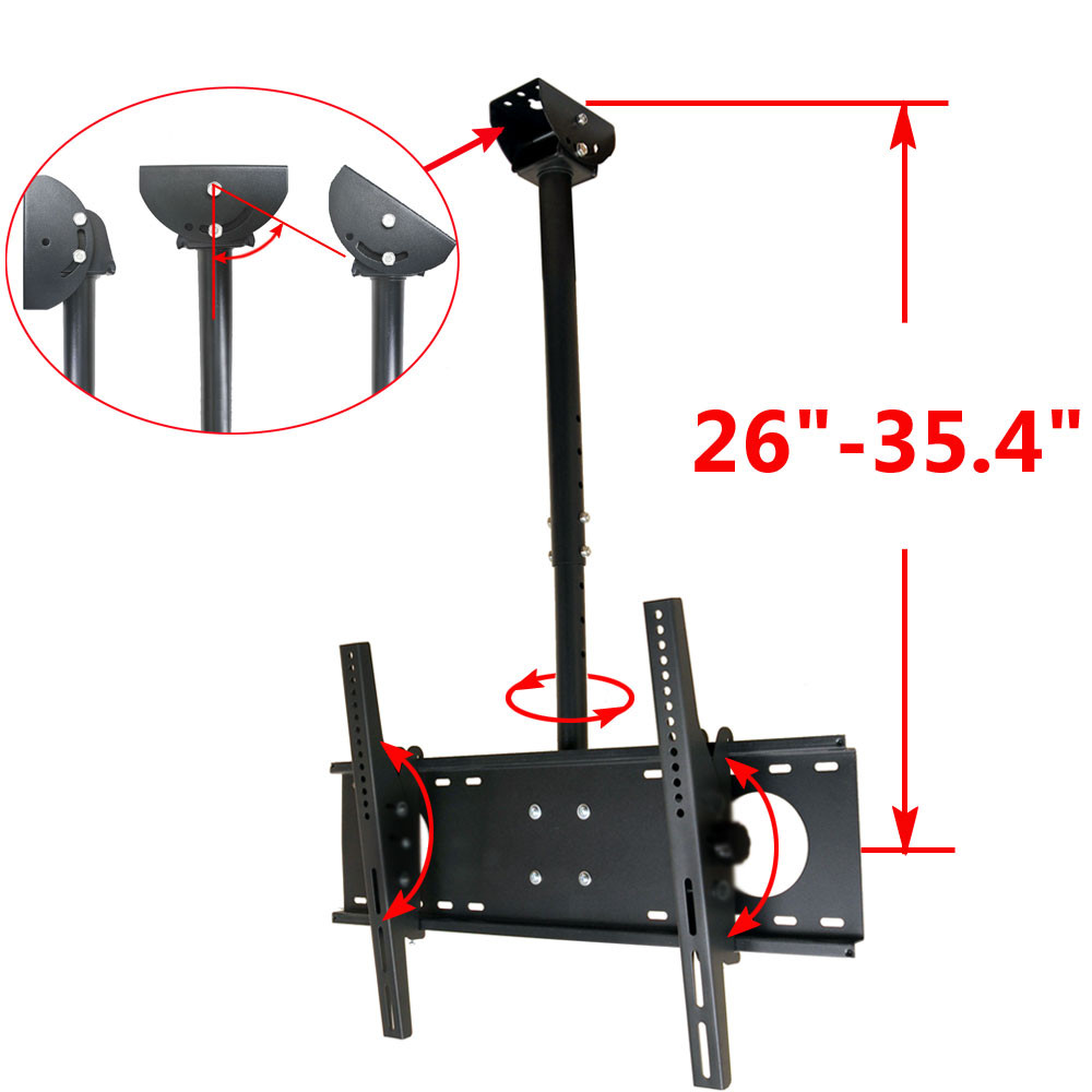 VideoSecu Tilt TV Ceiling Mount 39 40 42 46 47 48 50 55 60 65 LCD LED UHD Plasma HDTV Pan Bracket Heavy Duty BW8