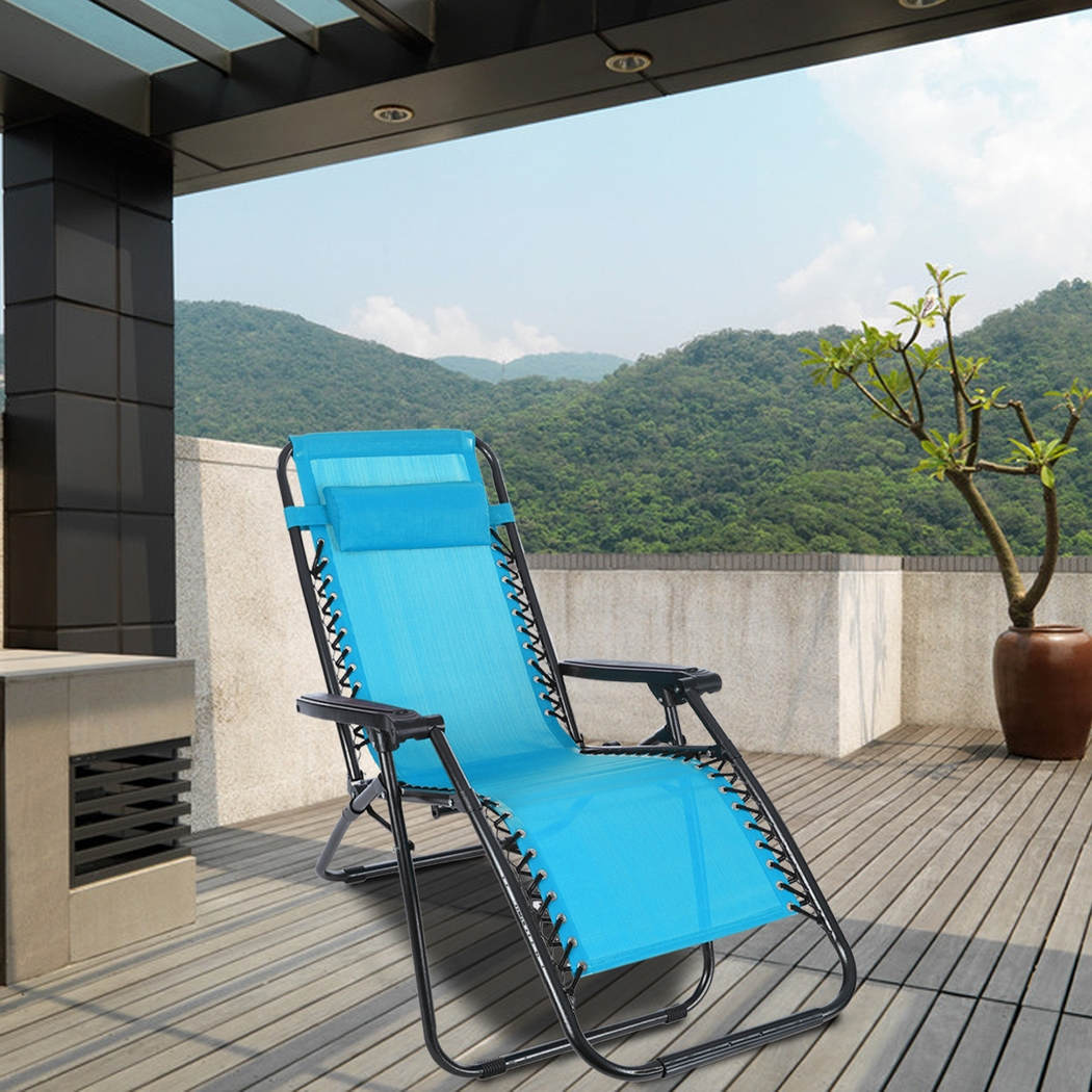 New Outdoor Lounge Chair Zero Gravity Folding Chair Recliner Patio Pool  Lounger Chair