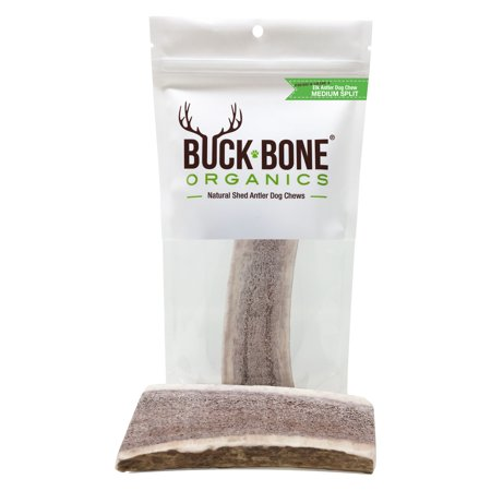Elk Antler Dog Chews by Buck Bone Organics, All Natural Healthy Chew, 4.5-5