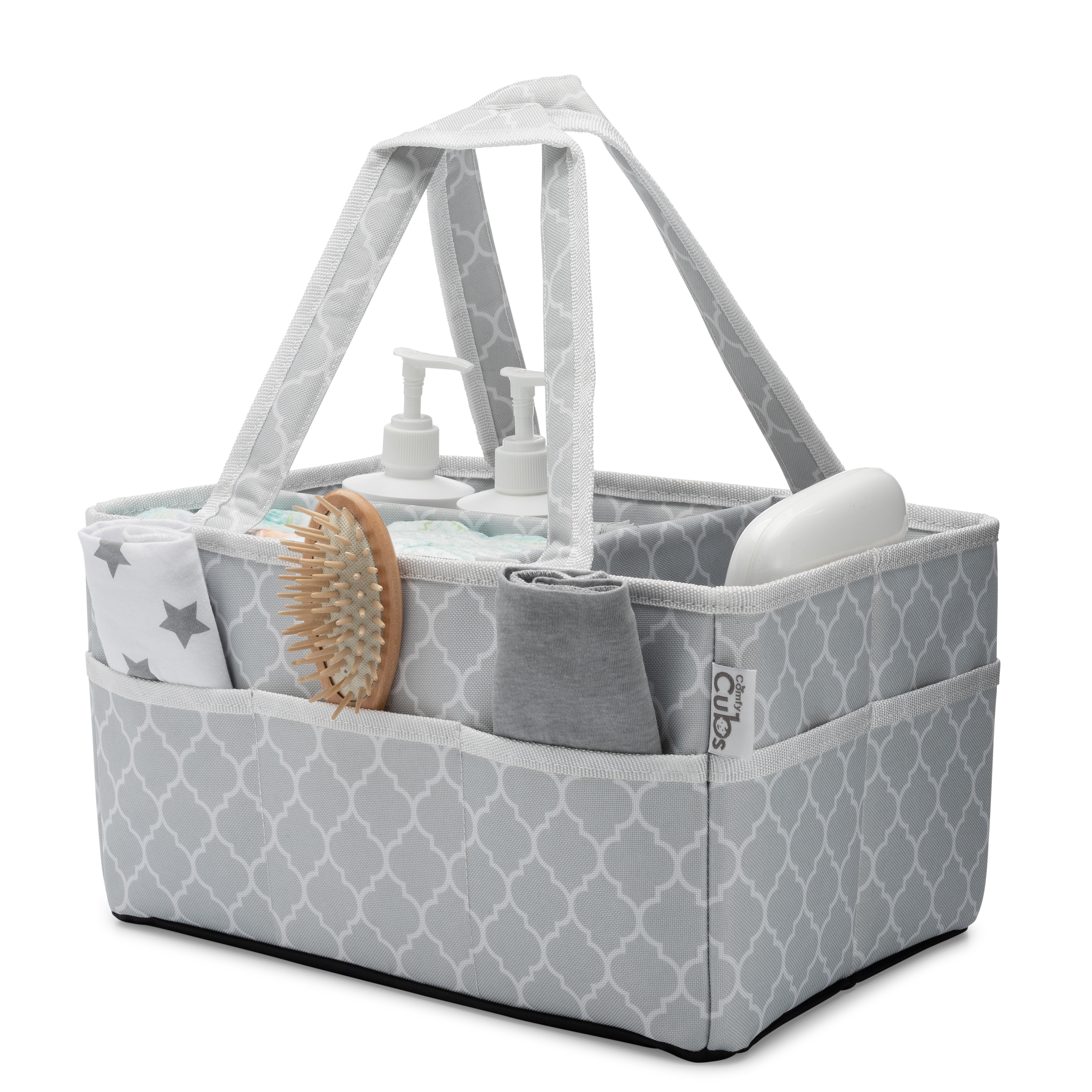 Portable Felt Nappy Basket Baby Wipes Bag WAWABOX Diaper Caddy Organizer Diaper Organizers with Changeable Compartments for Mom Newborn Kids Yellow