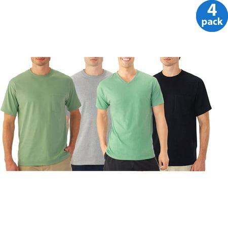 Fruit of the loom platinum eversoft mens short sleeve t shirt, 4 Pack Bundle For