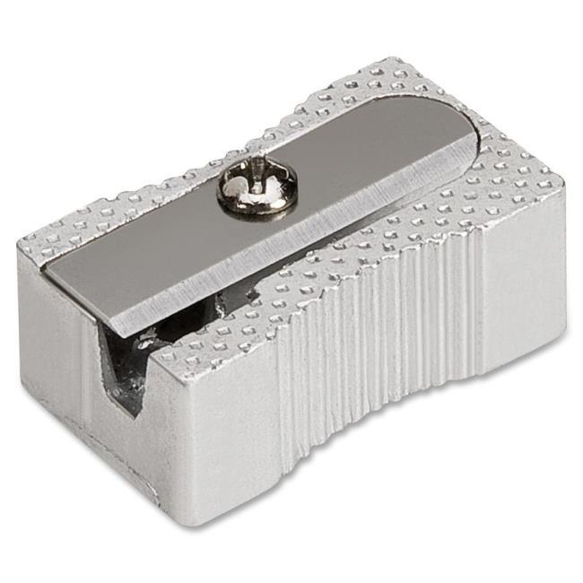 Singlehole Pocket Pencil Aluminum Sharpener - Silver