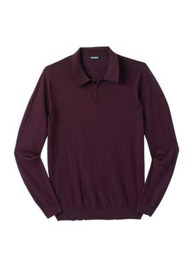 Kingsize Men's Big & Tall Polo Sweater