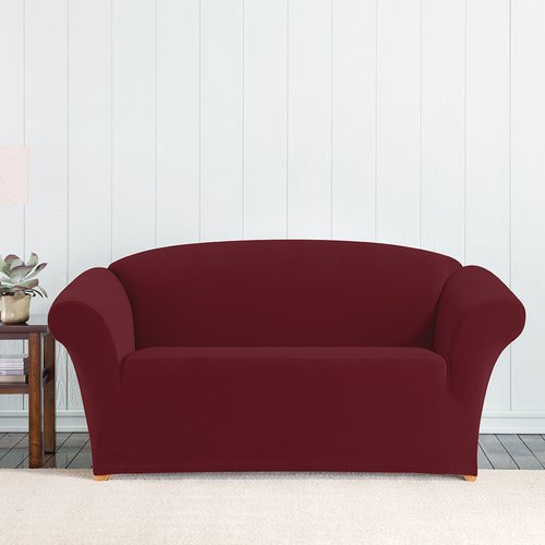 Sure Fit Simple Stretch Corduroy 1-Piece Loveseat
