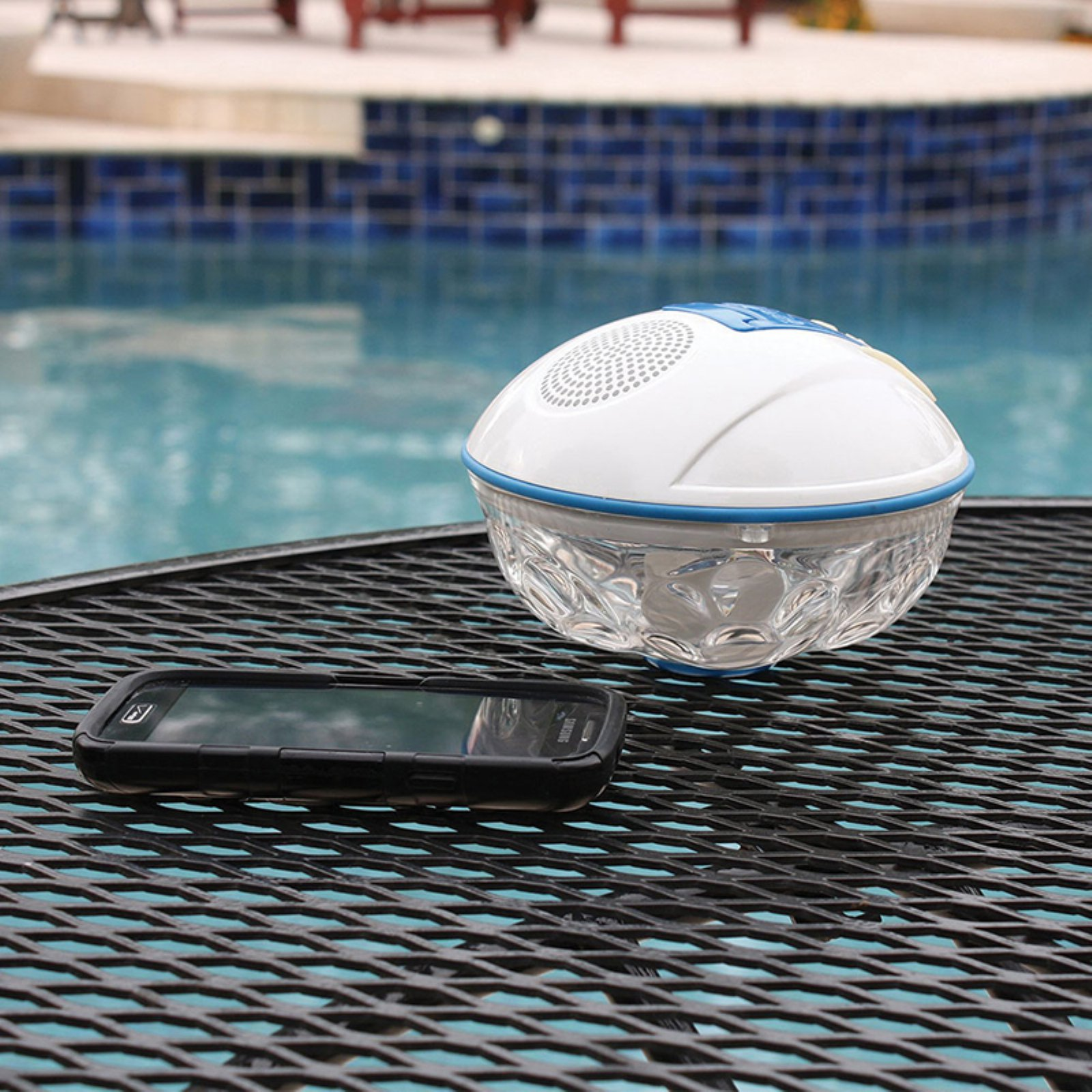 Game Bluetooth Wireless Speaker and Light Show for Swimming Pools