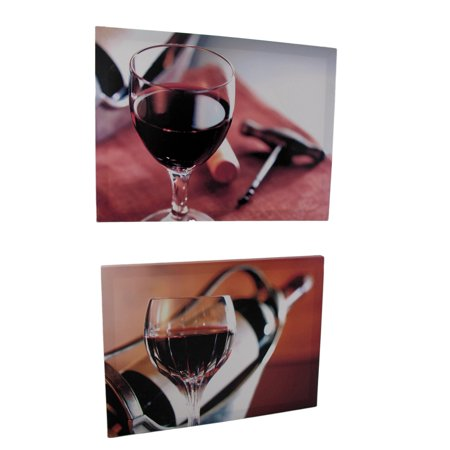 Pair of Wine Themed Printed Canvases - image 4 of 4