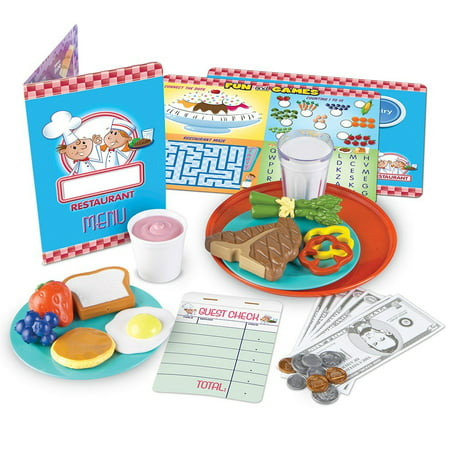 Learning Resources Serve It Up! Play Restaurant, 35 Pieces, Ages 3+