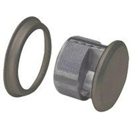 Dark Bronze Mortise Dummy Cylinder, No Keyway or Cam By CR - Double Cylinder Dummy