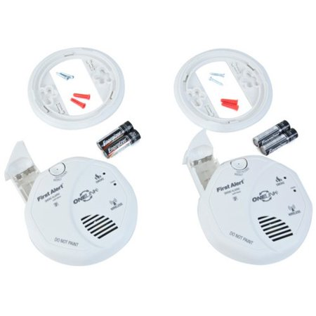 first alert wireless interconnect battery operated smoke alarm twin pack. Black Bedroom Furniture Sets. Home Design Ideas