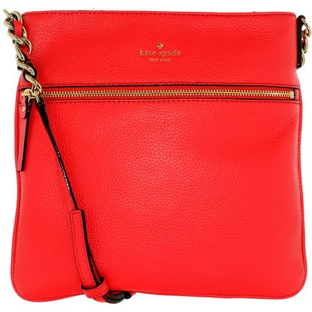 Kate Spade Womens Cobble Hill Ellen Crossbody Leather Cross Body Bag Satchel   Crab Red