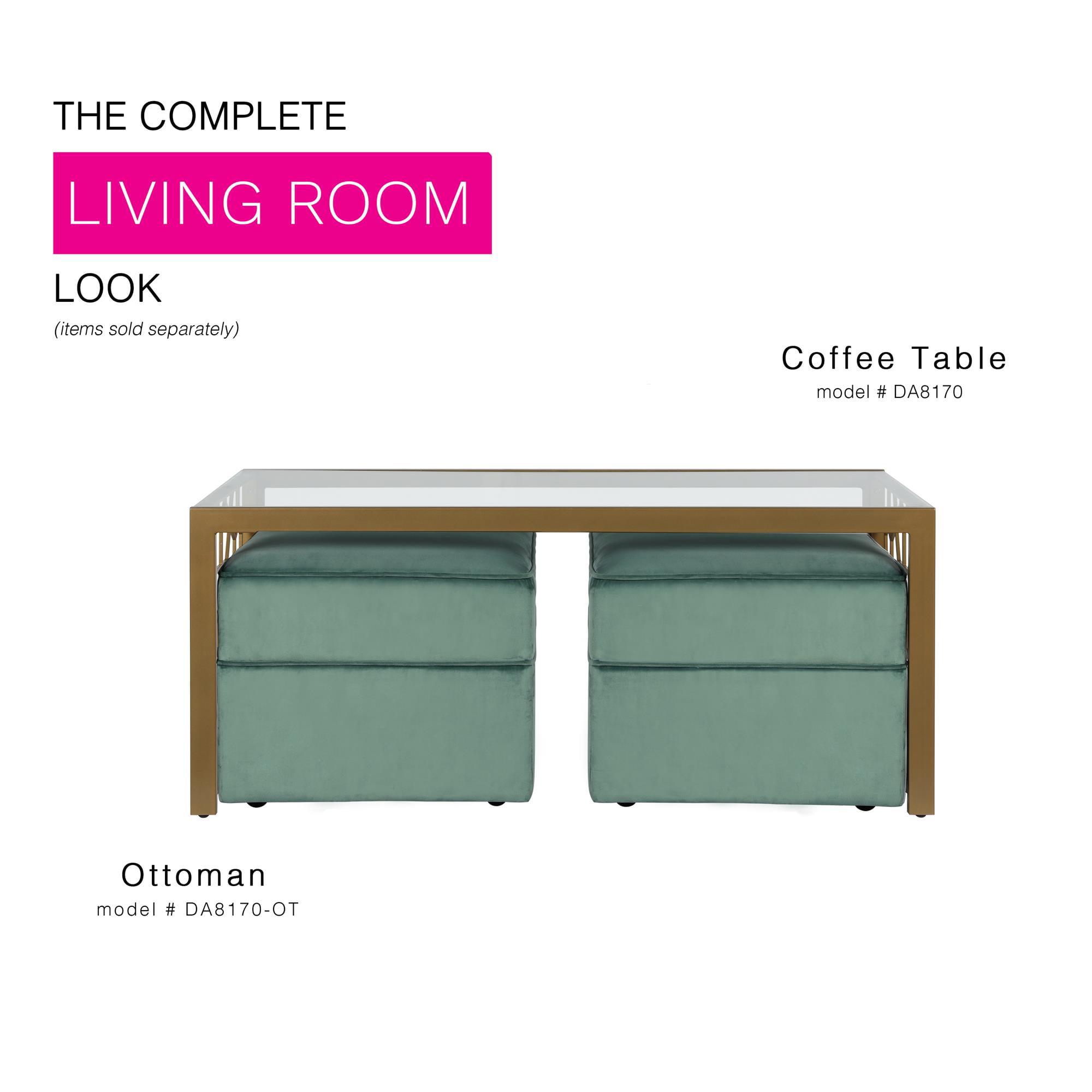 Cosmoliving By Cosmopolitan Juliette Glass Top Coffee Table Walmart Com Walmart Com