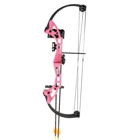 Bear Archery Brave Pink RH Bow Set AYS300PR SKU: AYS300PR with Elite Tactical Cloth - Archery Sets
