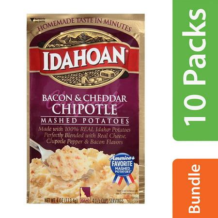 (10 Pack) Idahoan Bacon & Cheddar Chipotle Mashed Potatoes, 4