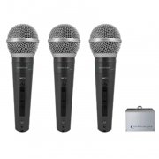 Technical Pro 3 Wired Microphones with Digital Processing Set
