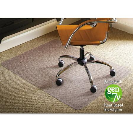 ES Robbins Natural Origins Chair Mat For Carpet 46 X 60 Clear