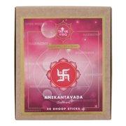 Tatva Yog Anekantavada Saffron Natural Scented Dhoop Sticks (Pack of 2, 20 Sticks Per Pack)