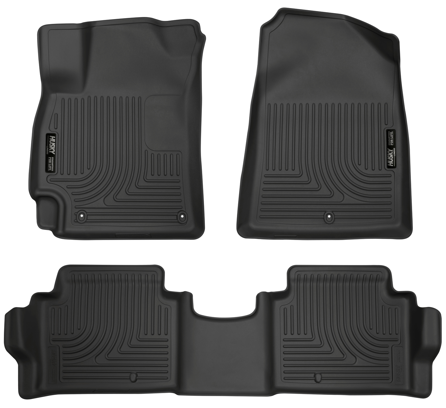 Husky Liners Front & 2nd Seat Floor Liners Fits 17-18 Elantra