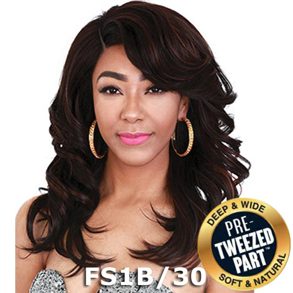 Sis Royal Pre-Tweezed Part Swiss Lace Front Wig - FERRY (1b Off Black)